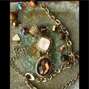 Cookie Lee gold crystal Citrine Mother of Pearl